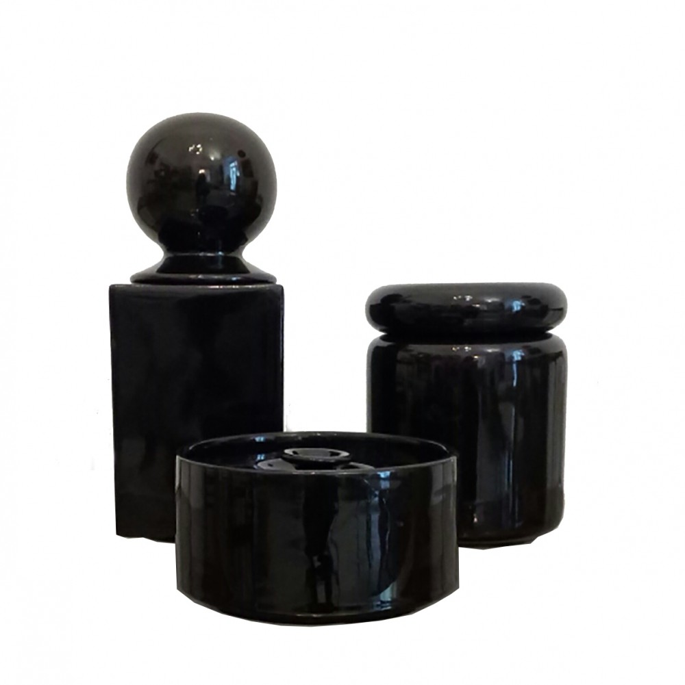 Set of Three Ceramic Vases by Pino Spagnolo for Sicart, Italy 1970s