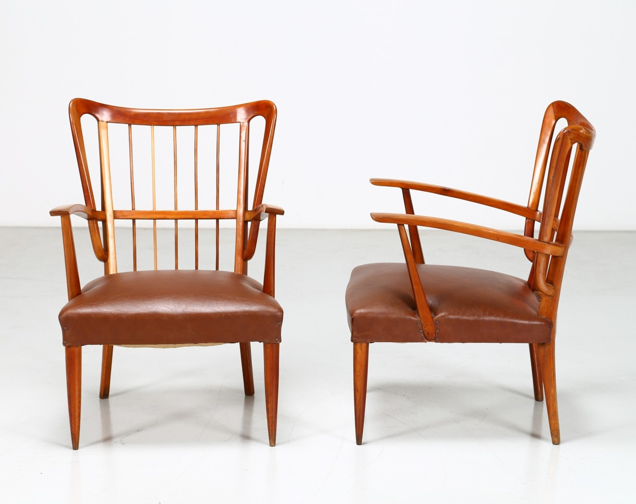 Him & Her chair by Paolo Buffa, 1950s