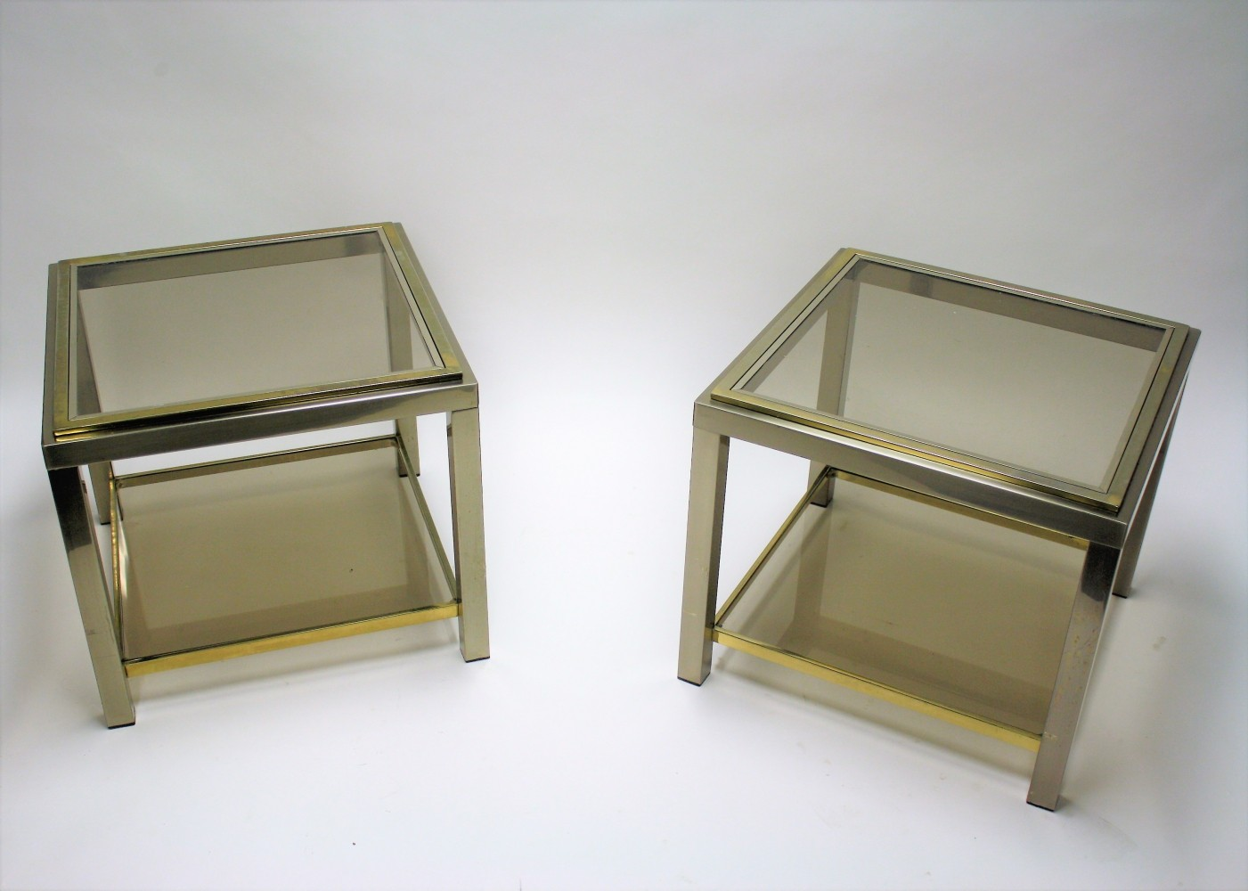 Pair of side tables by Jean Charles, 1970s