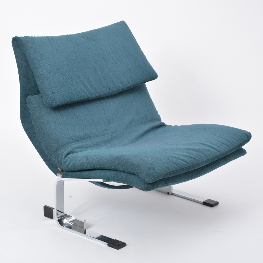 Onda lounge chair by Giovanni Offredi for Saporiti, Italy 1970s