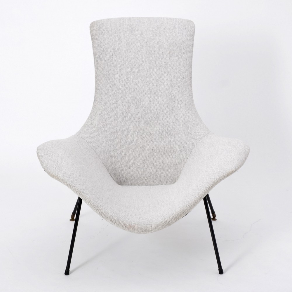 Lounge chair by Augusto Bozzi for Fratelli Saporiti, Italy 1950s