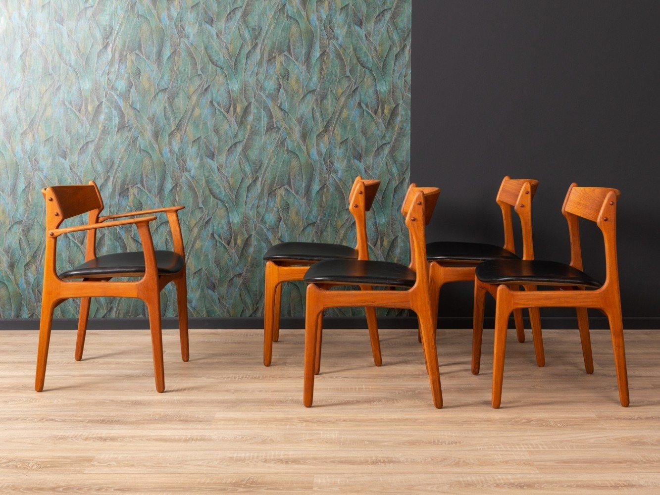 Set of 5 Danish dining chairs by Eric Buch for O.D. Møbler, 1950s