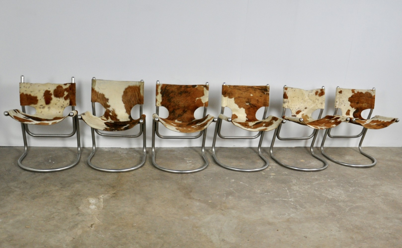 Cow skin chairs, 1960s