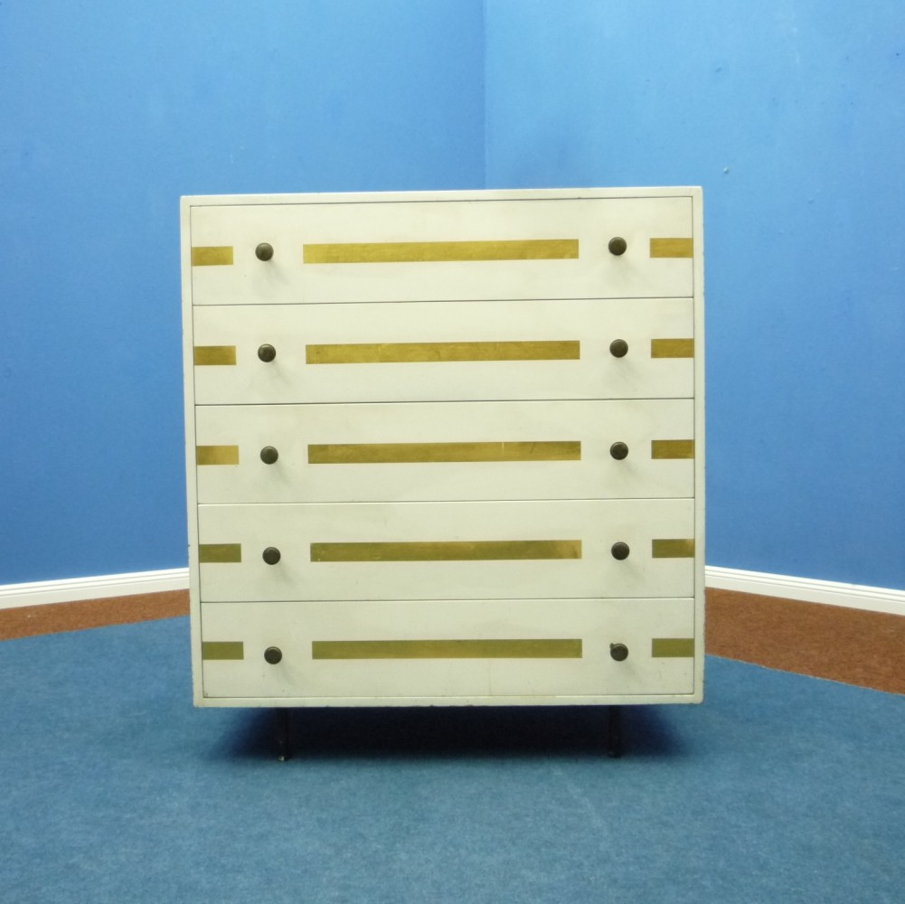 Very rare Drawers Dresser by Josef Hillerbrand for DeWe, 1950s
