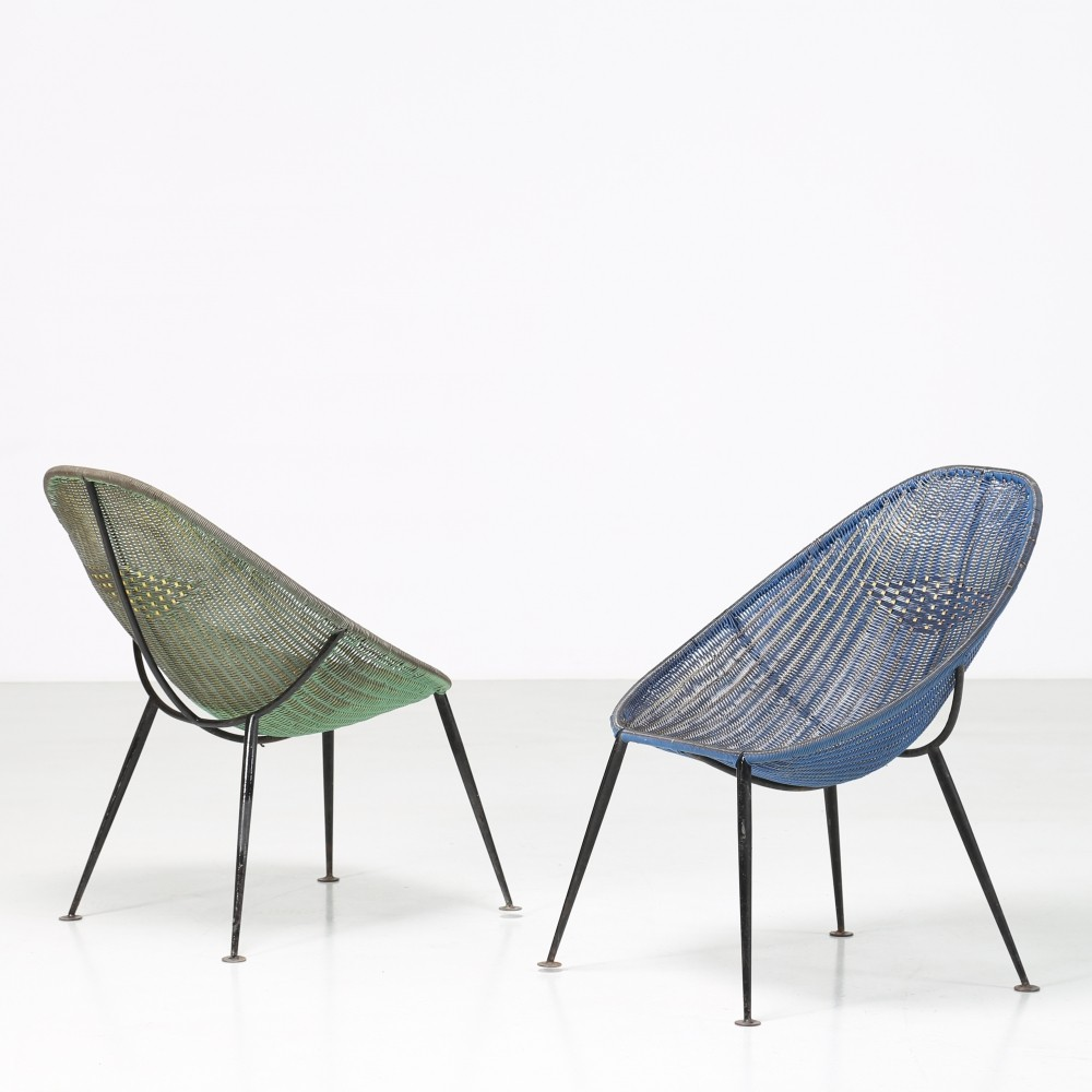 Pair of Ico Parisi outdoor chairs, 1950s