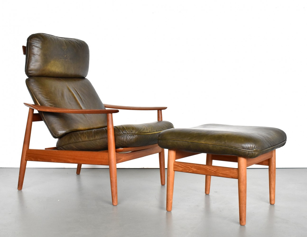 FD 164 lounge chair by Arne Vodder for France & Son, 1960s