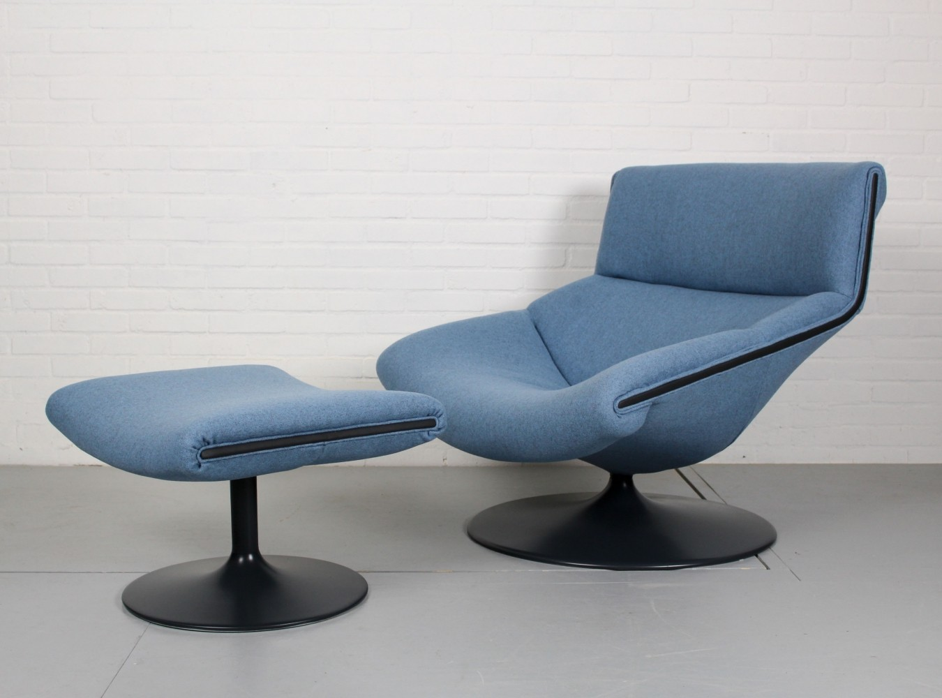 F520 lounge chair + ottoman by Geoffrey Harcourt for Artifort, 1960s