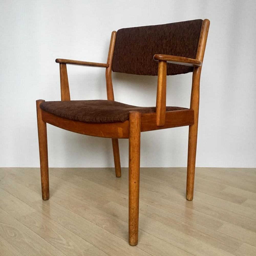 Mid Century Danish Oak arm chair by Poul Volther for FDB Møbler, 1950s