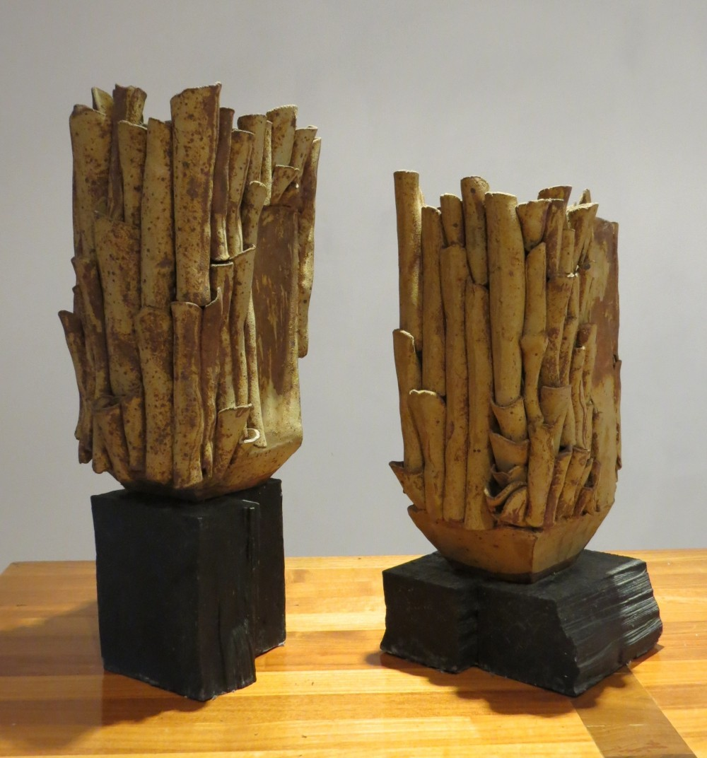 Pair of Large Studio Pottery Sculptures by Sylvia Morris, 1970s
