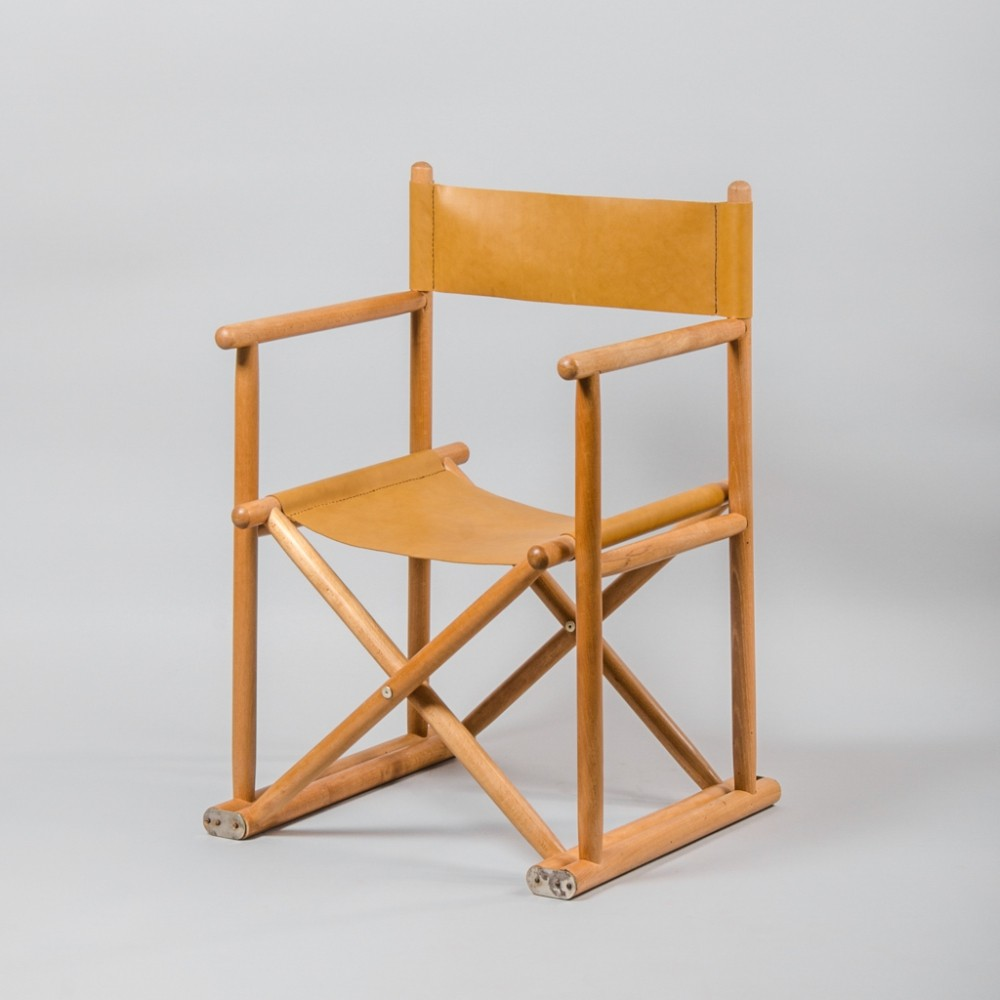 Vintage Directors Chair in Beech & Leather