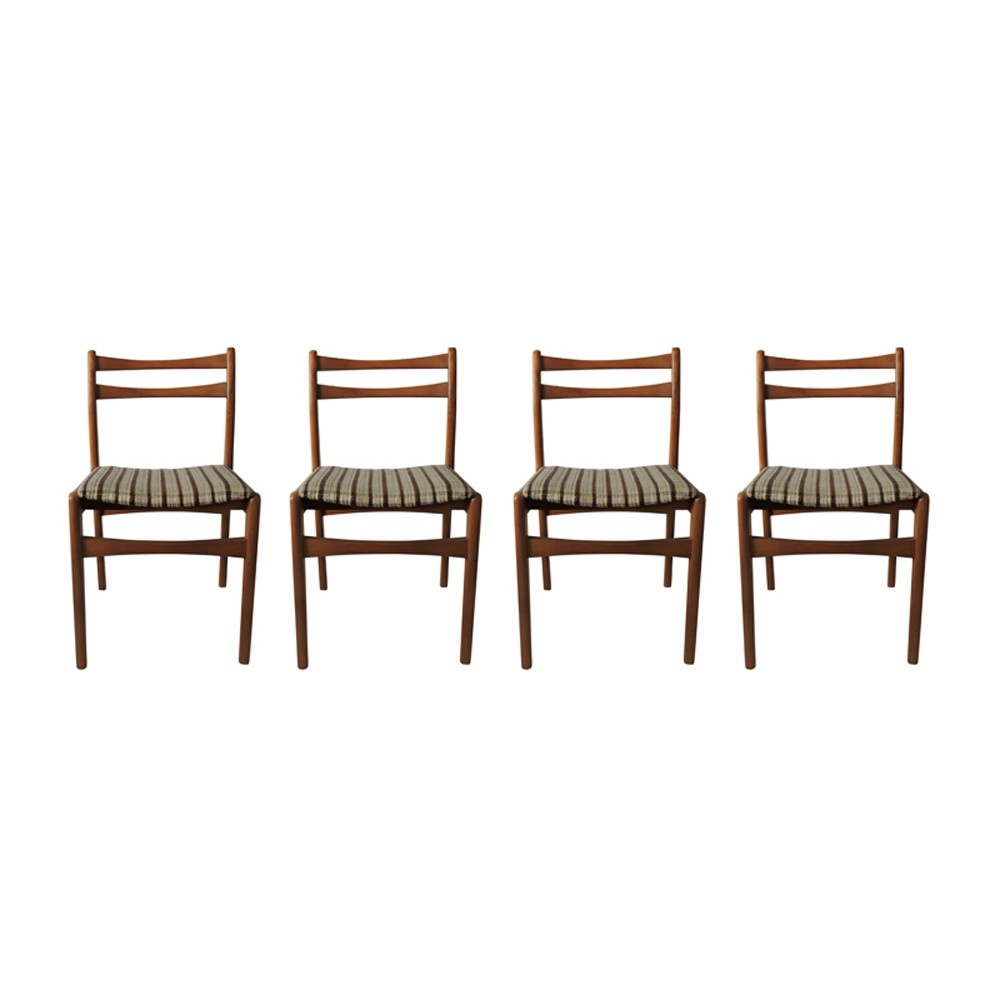 Set of 4 Mid-Century Dining Chairs, 1970s