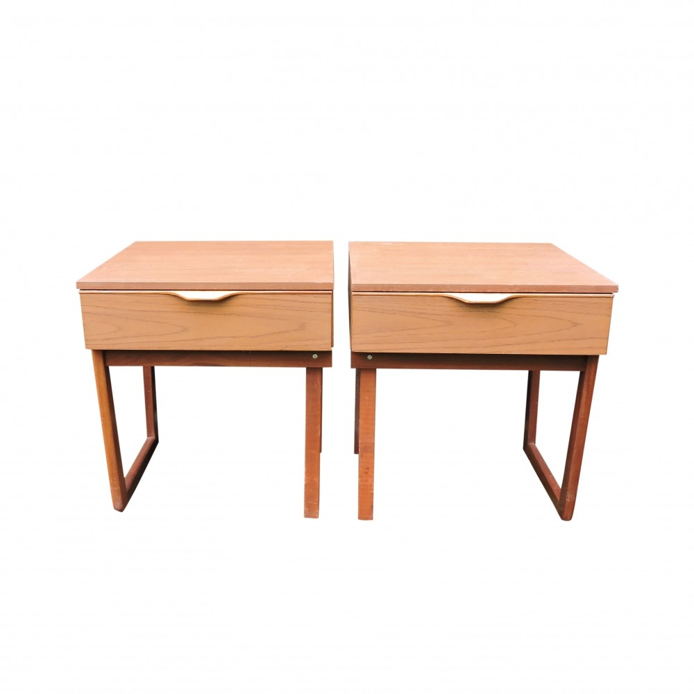 Pair of Mid-Century Nightstands from Europe, 1960s