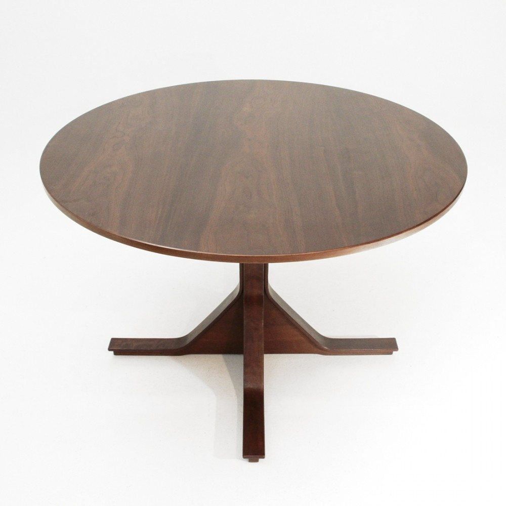 Italian mid-century round dining table by Gianfranco Frattini for Bernini, 1960s