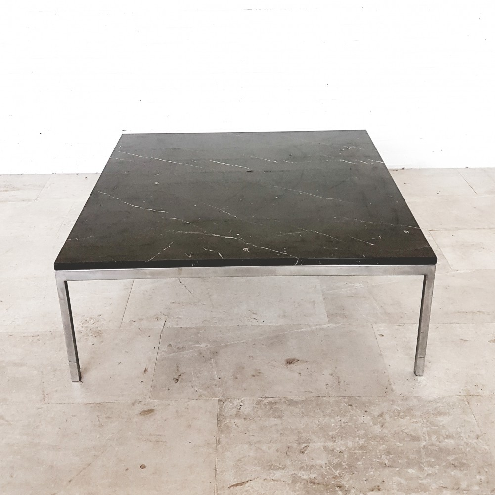 Black marble coffee table by Florence Knoll for Knoll International, 1960s