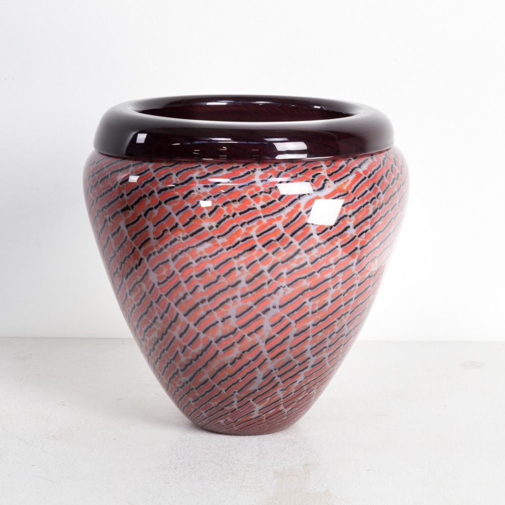 Murano glass vase for Seguso