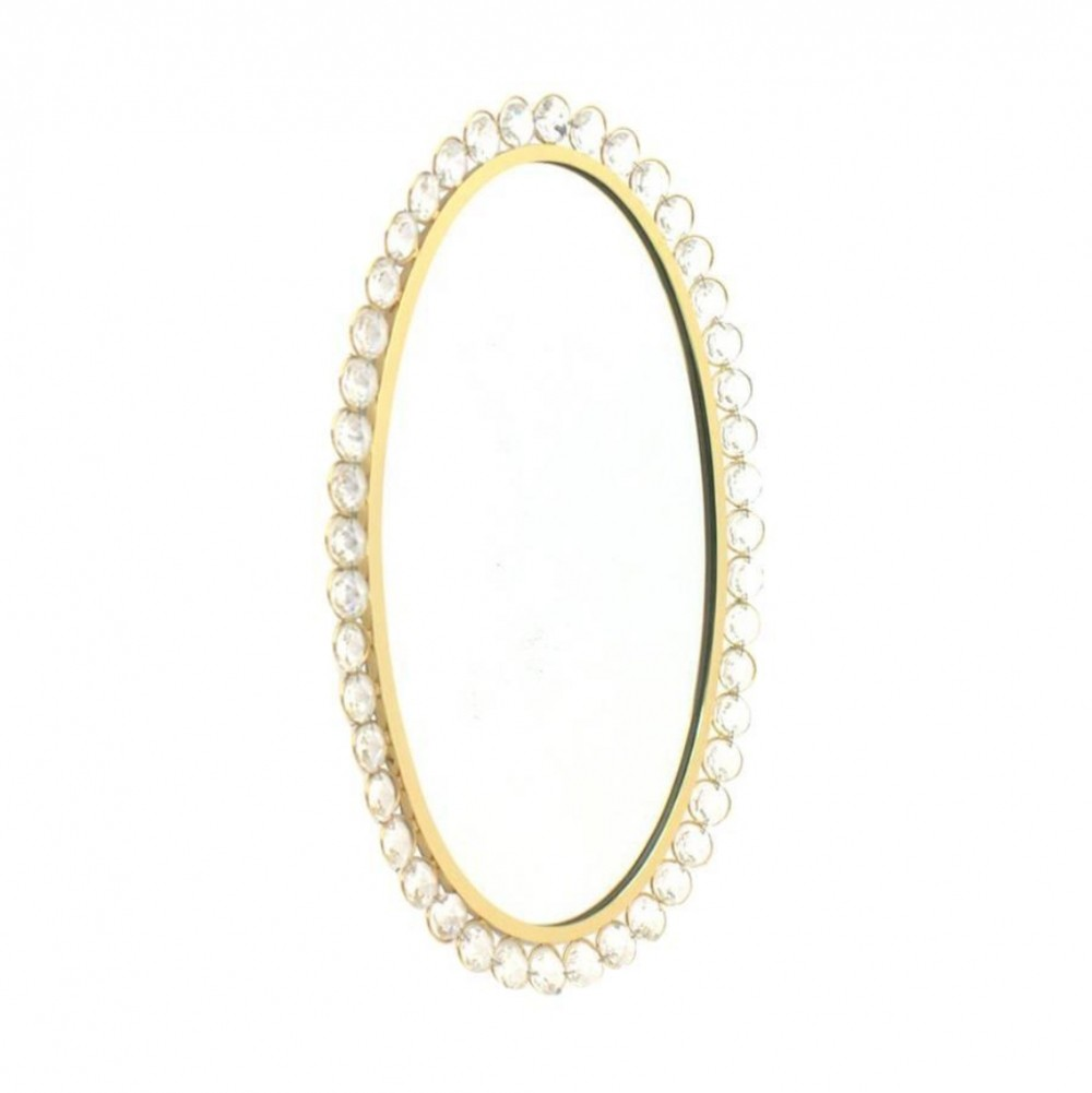 Palwa Mirror with Crystal Glass & Gilded Frame, Germany 1960s