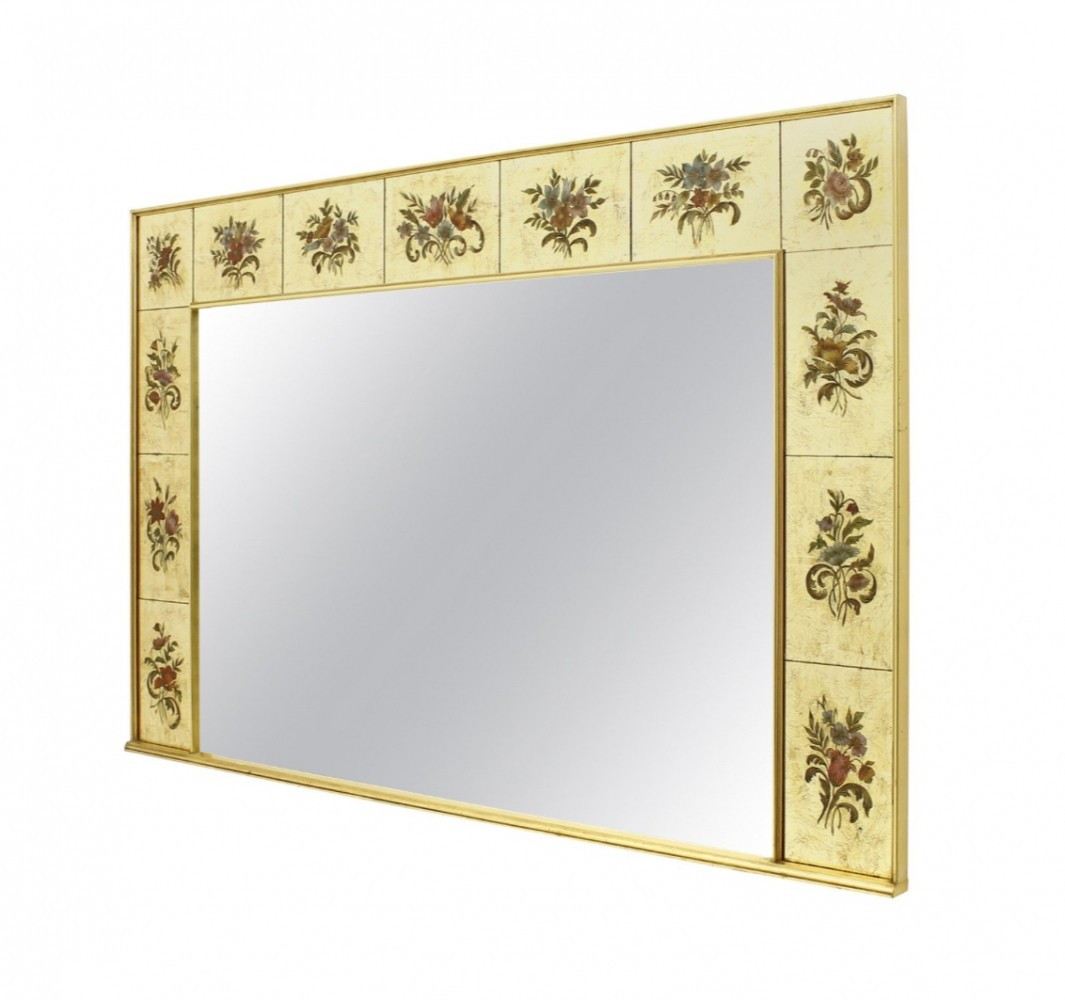 Decorative Large Mirror from France, circa 1980s