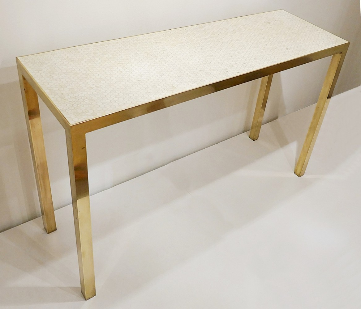 Mosaic Console by Ado Chale, Belgium 1980s