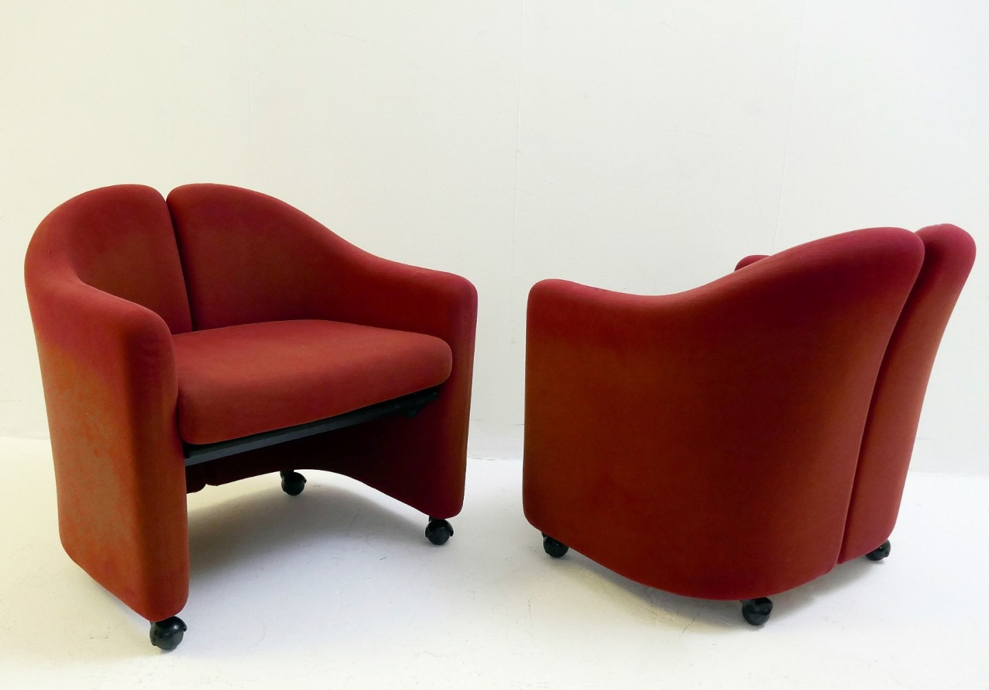 Pair of PS142 Armchairs By Eugenio Gerli For Tecno, 1960s