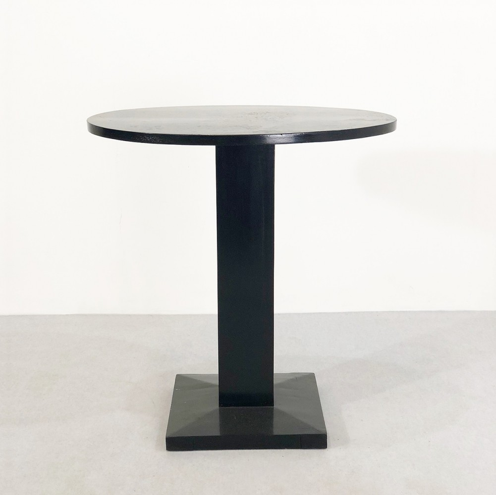 Art Deco side table in black lacquered wood, 1920s