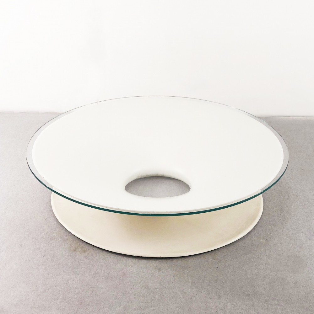 Space Age White Coffee Table, 1965