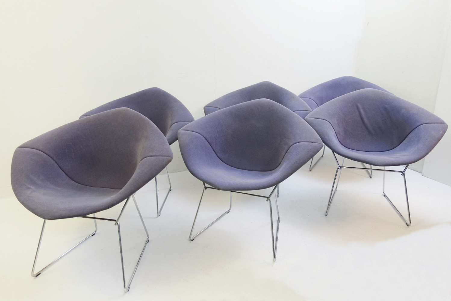 6 Diamond Chairs by Harry Bertoia For Knoll International
