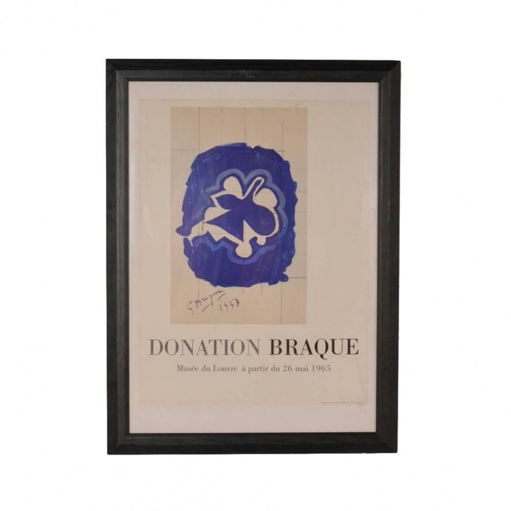 Lithography by Georges Braque for Louvre Museum, Printed by Mourlot, 1965
