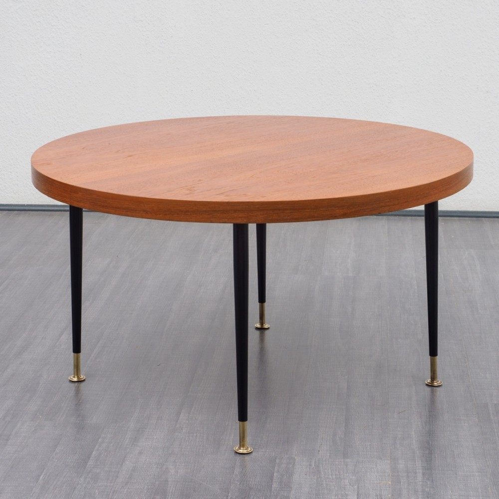 Cheap Adjustable Height Coffee Table: Rare Vintage Teak Height Adjustable Coffee Table, 1950s