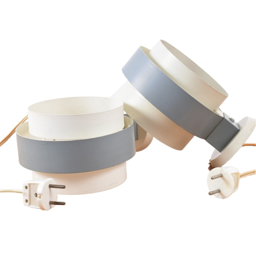 Set of 2 metal wall lamps by Philips