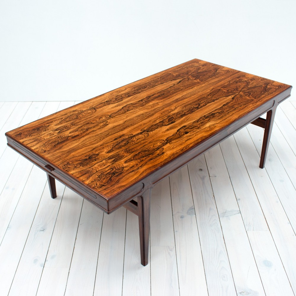 1960s Large Danish Rosewood Extending Coffee Table