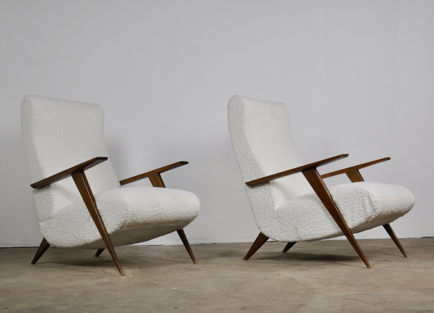 Pair of Italian Lounge chairs, 1950s