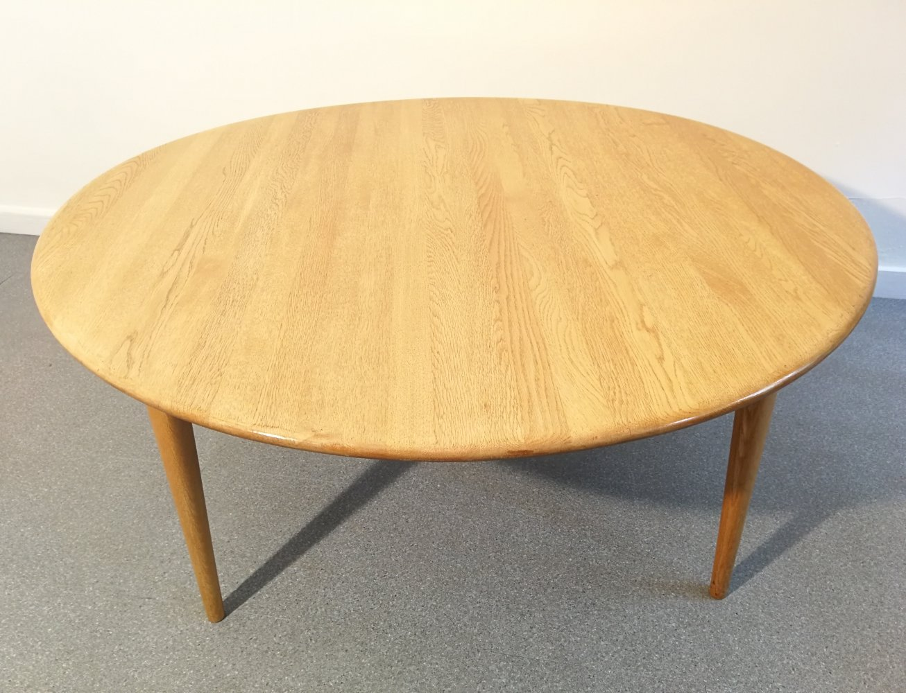 Large wood coffee table, 1960s