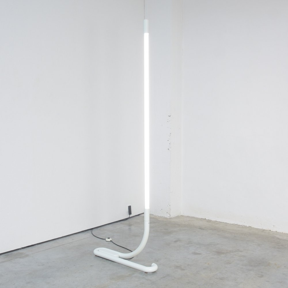 TC2 White Tubular Lamp by Aldo van den Nieuwelaar for Artimeta, 1972