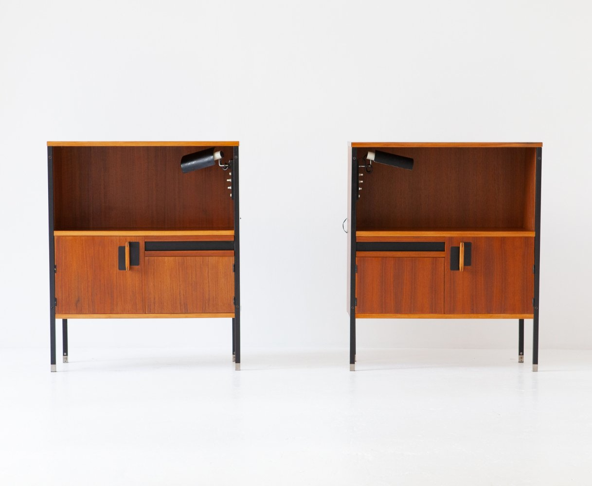 Nightstands by Ico Parisi for MIM with Gino Sarfatti Lamps, 1958