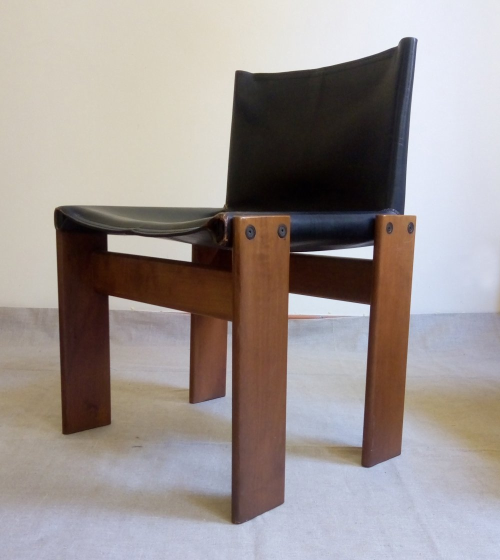 Set of four Monk chairs by Afra & Tobia Scarpa for Molteni