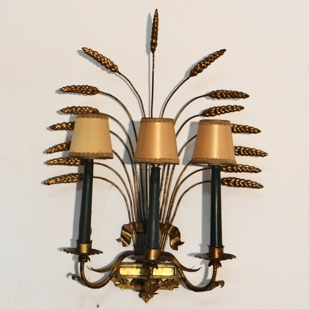 Gilded wall sconce, 1950s