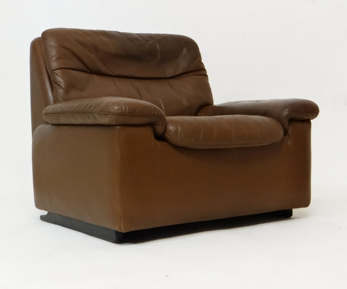 Leather lounge chair by De Sede, 1970s
