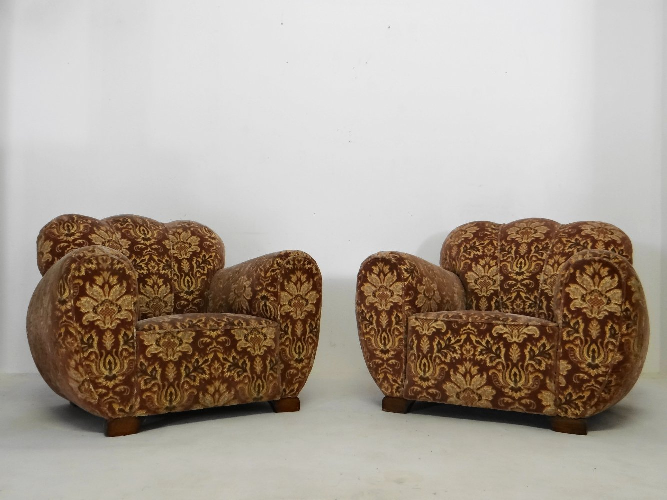 Pair of Art deco club chairs, 1930s