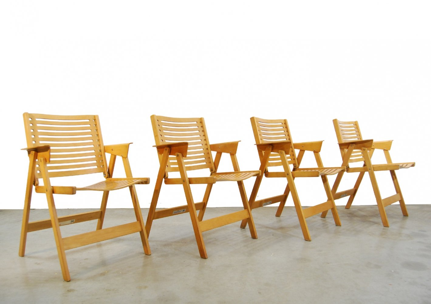 Vintage set of 4 Rex folding chairs by Niko Kralj for Stol, 1950s