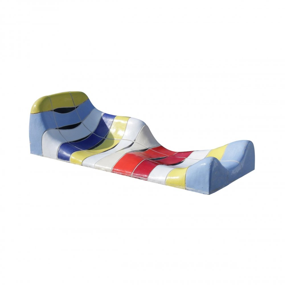 Jan Snoeck Ceramic Sculpture / Daybed from the MS Volendam, Netherlands 1994