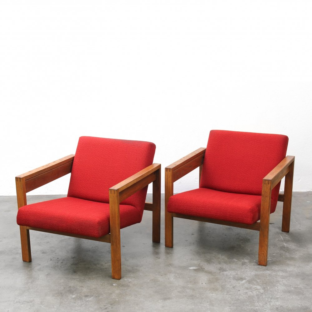 Pair of Model SZ25 lounge chairs by Hein Stolle for Spectrum, 1950s