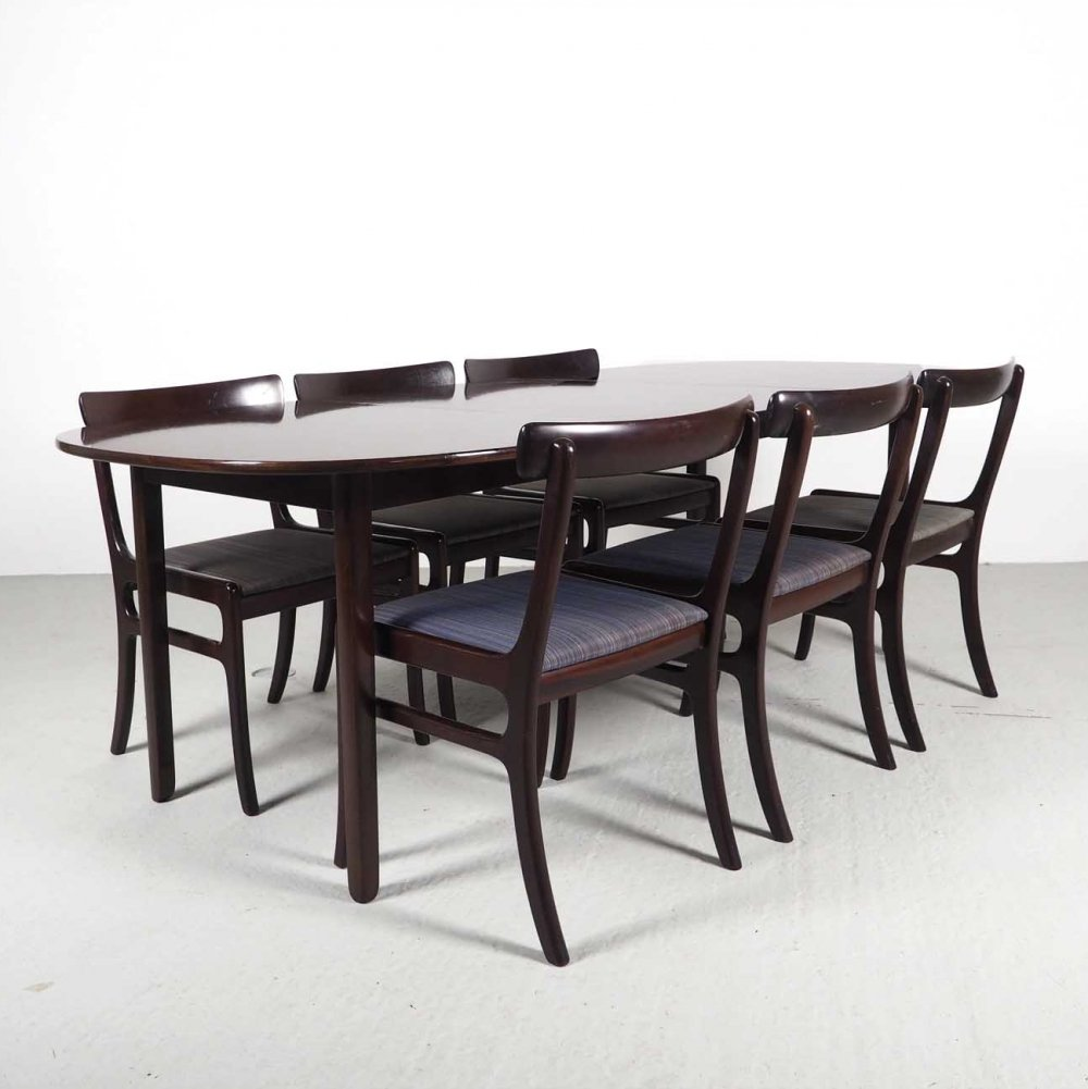 Mid-Century Dining Set by Ole Wanscher for Poul Jeppesens Møbelfabrik, 1960s