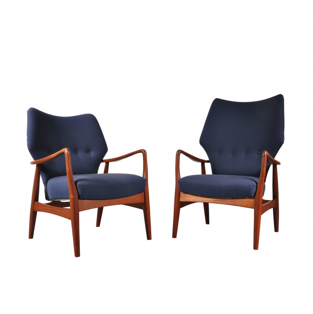 Pair of Lounge Chairs by Aksel Bender Madsen for Bovenkamp, Netherlands 1950s