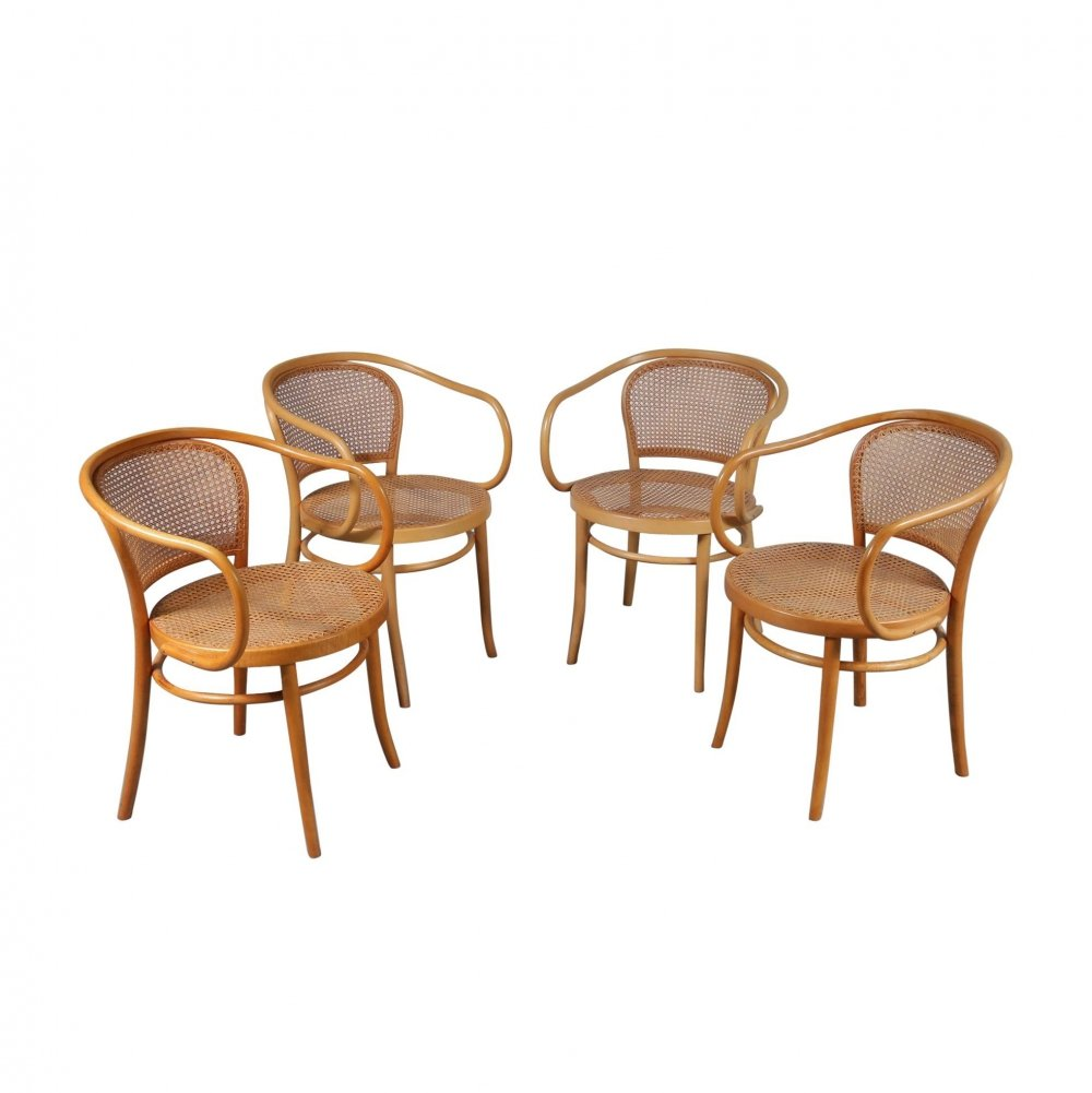 Set of Four Corbusier Armchairs by Michael Thonet, Germany 1920s