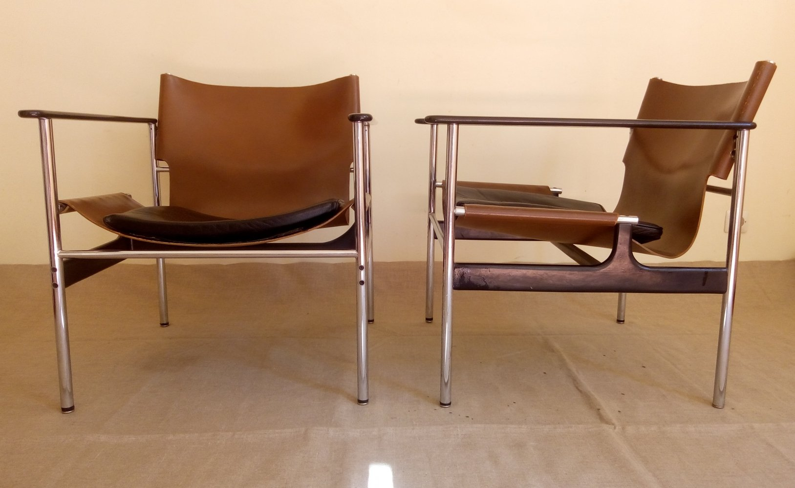 657 sling chairs by Charles Pollock for Knoll International