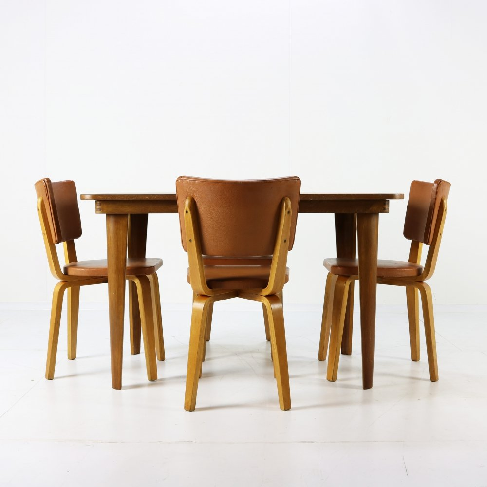 Early 50s bentwood dinner set by Cor Alons