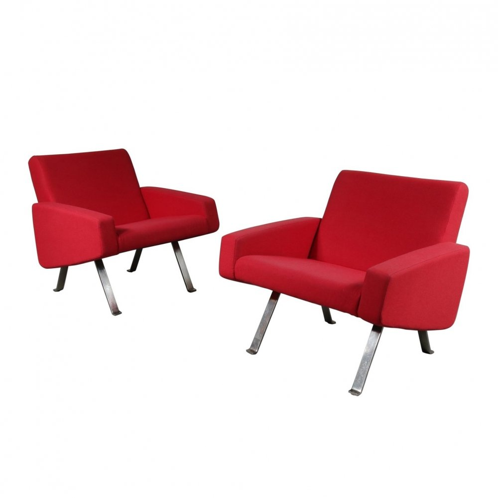 Pair of Joseph Andre Motte Lounge Chairs for Artifort, Netherlands 1965