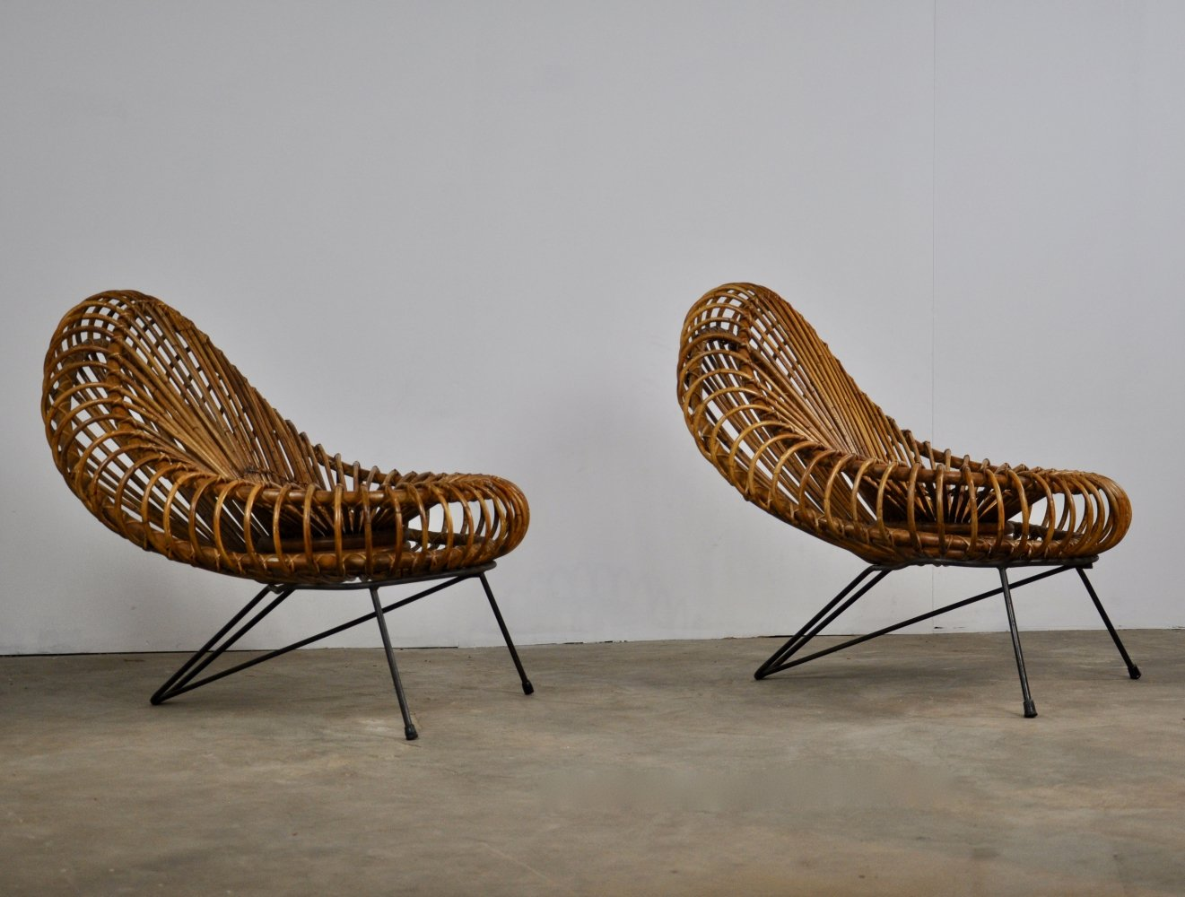 Pair of lounge chairs by Jeanine Abraham & Dirk Jan Rol for Rougier