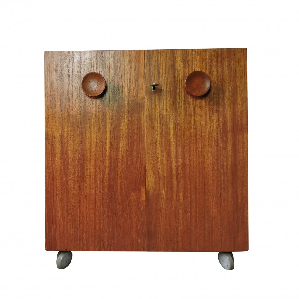 Teak Bar by Erik Buch for Dyrlund, 1960s