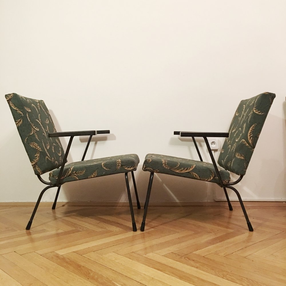 Pair of 415 /1401 Armchairs by Wim Rietveld for Gispen, 1950s